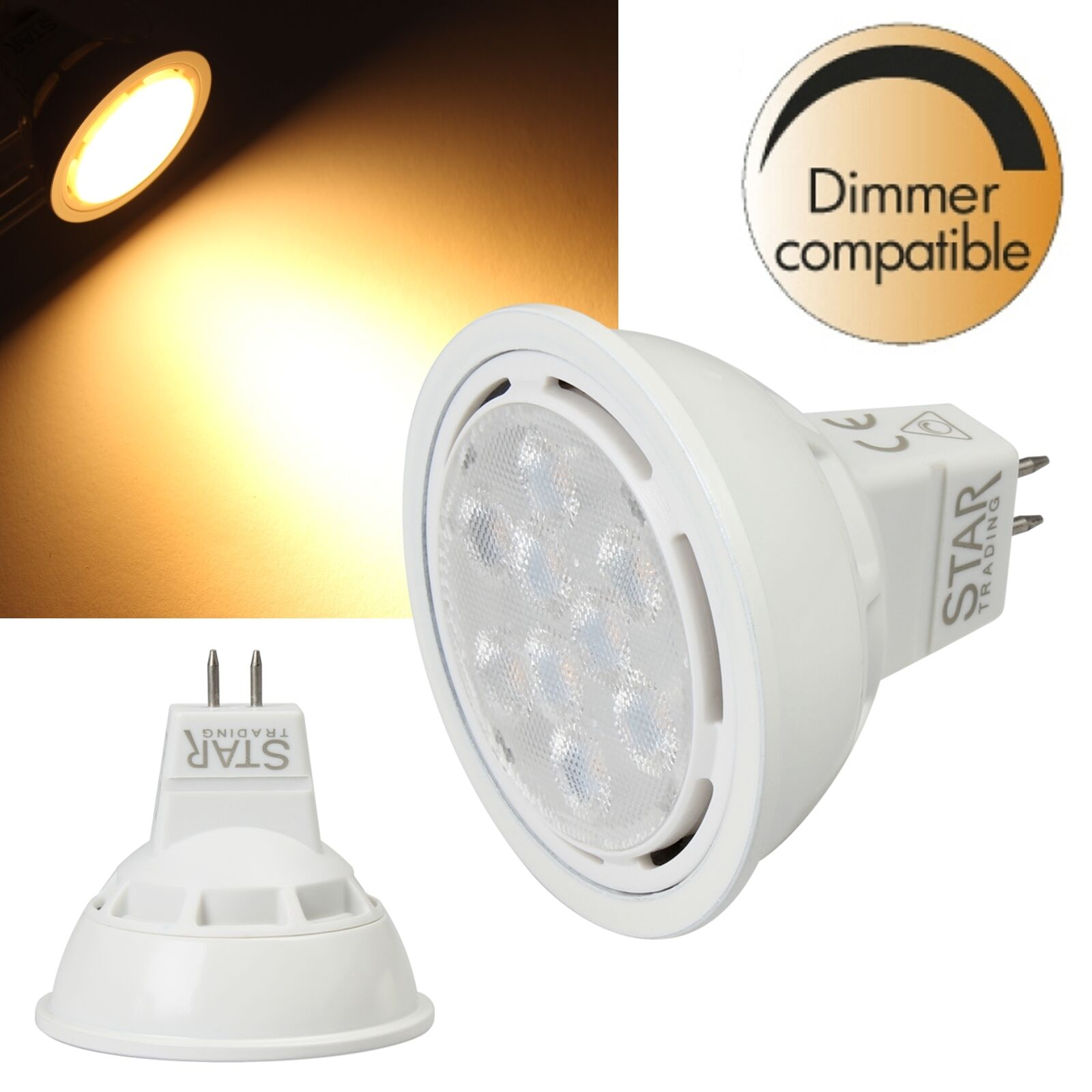 Reflector LED MR16 Regulable 12V 5,5 8W EEK   a +   Bombillas Spot GU5,3 G5,3