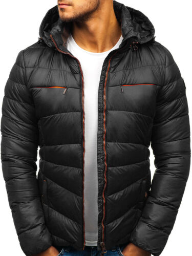 trapuntato Bolf Cappotto Jacket con Winter Mens Down Puffer Classic 4d4 cappuccio Bubble Lined wUUS0q6nr