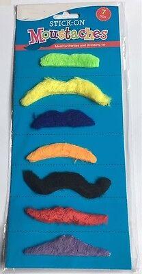 7 Stick-on Baffi Assortiti Designs Una Festa In Costume E Essenziale-mostra Il Titolo Originale Regalo Ideale Per Tutte Le Occasioni