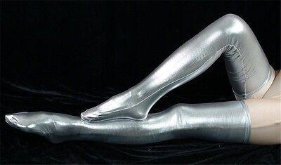 Metallic Lycra zentai spandex long stockings Halloween Gift Wholesale Price!