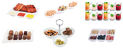 Snack Dish White Porcelain Snack Bowls Nibbles Dips Trays Serving Tapas Dishes