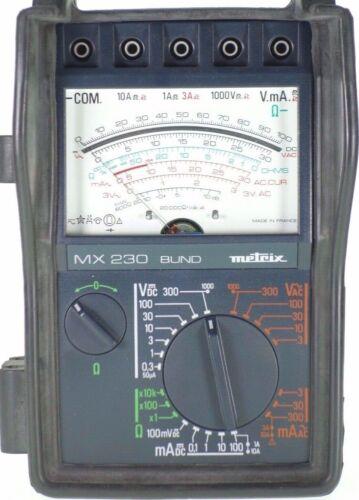 Metrix MX230 Multimeter Analog Voltmeter Amperemeter ITT Messgerät tested