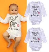 Newborn Baby Kids Boy Girl Clothes Cotton Romper Bodysuit Jumpsuit Outfits 0-18M