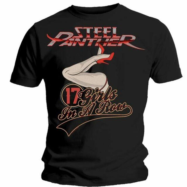 STEEL PANTHER 17 Girls In A Row T Shirt  OFFICIAL S M L XL XXL