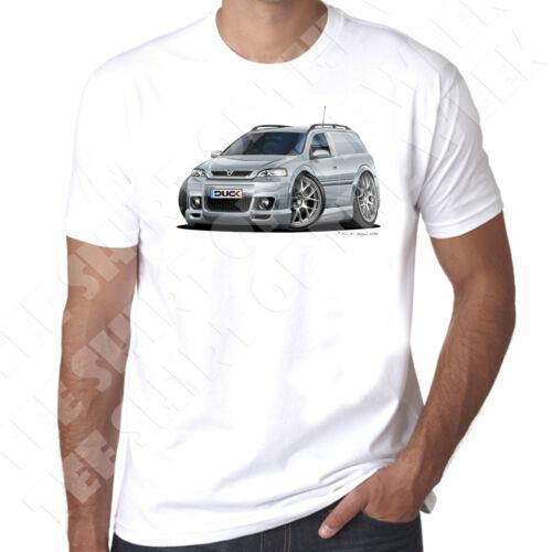 Wickedartz Cartoon silver VAUXHALL ASTRA MK4 VAN homme 100/% coton t-shirt blanc