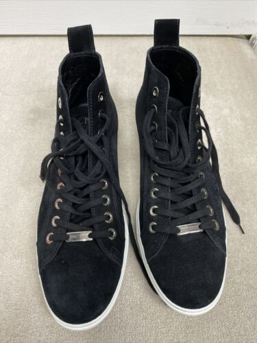 Jimmy choo Mens Colt High Top Suede Lace Up Sneake