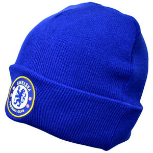 beaa75c0328 Image is loading Official-Chelsea-Football-Club-Royal-Blue-Cuff-Beanie-