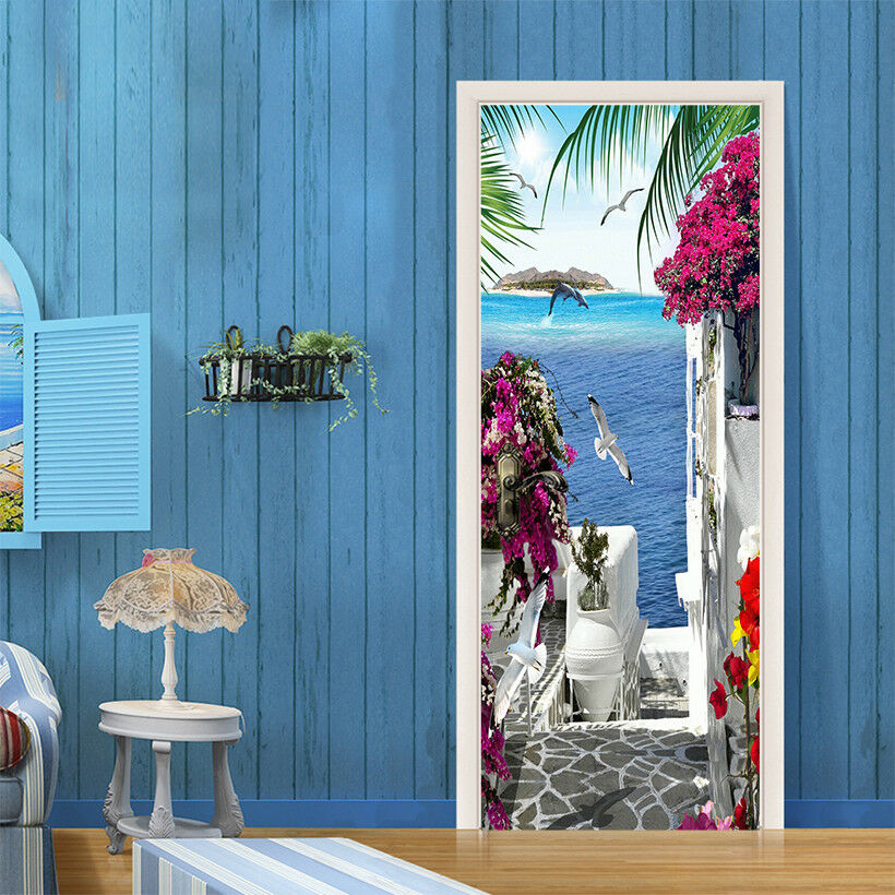 3D Möwen 729 Tür Wandmalerei Wandaufkleber Aufkleber AJ WALLPAPER DE Kyra    Vorzugspreis    Spielzeugwelt, fröhlicher Ozean    Günstig