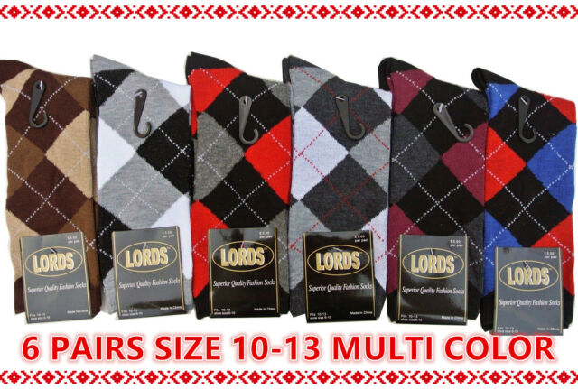 12 PAIRS FISRT QUALITY PATTERN FASHION SOCKS SIZE 10-13 COTTON MEN DRESS SOCKS