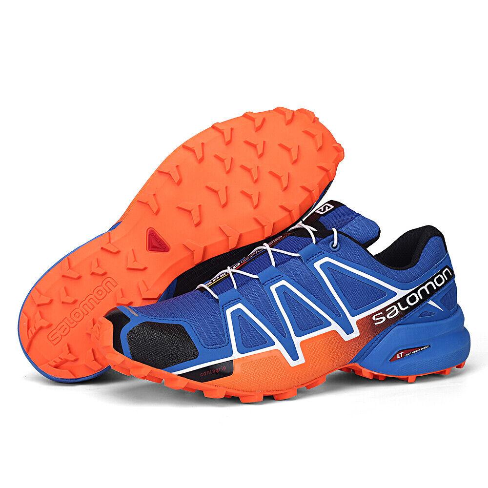 Mens Salomon Speedcross 4 Athletic Running Sports Outdoor Hiking shoes Sky bluee
