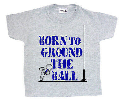 """Dirty Fingers Boy/'s T-Shirt /""""Born to Ground Ball/"""" Rugby Top Sport Clothes"""