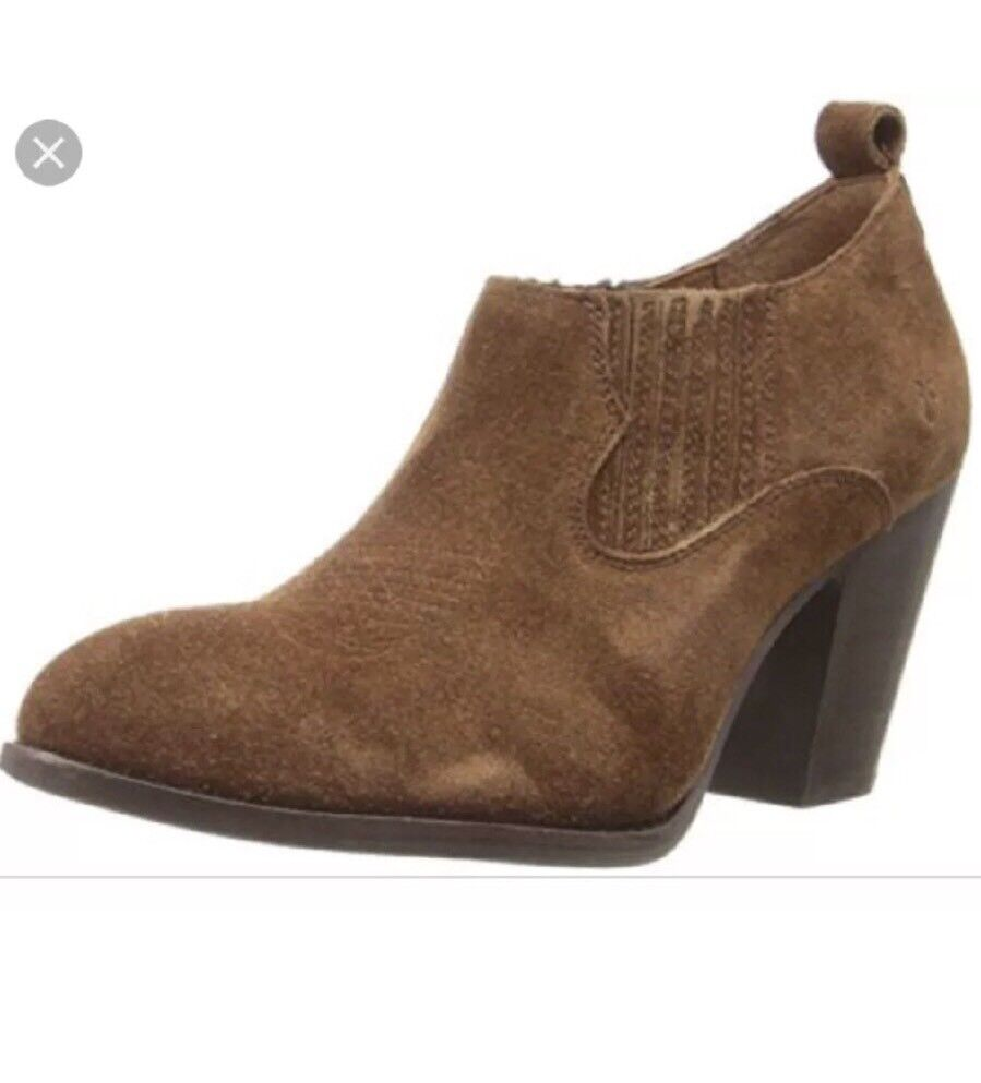 New FRYE Ilana Shootie Stiefel Wood Braun Leder Suede Stiefel Shootie Slip On Ankle Booties 6.5 9deeec