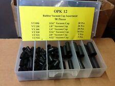 OPK12 VACUUM CAP ASSORTMENT RUBBER 90 PIECES NEW