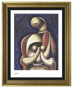 Pablo-Picasso-Signed-Hand-Numbered-Ltd-Ed-034-Woman-Red-Armchair-034-Print-unframed