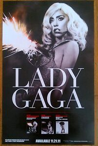 Lady-GaGa-Official-Monster-Ball-HBO-The-Fame-Rare-USA-Promo-Poster-14x22-NEW