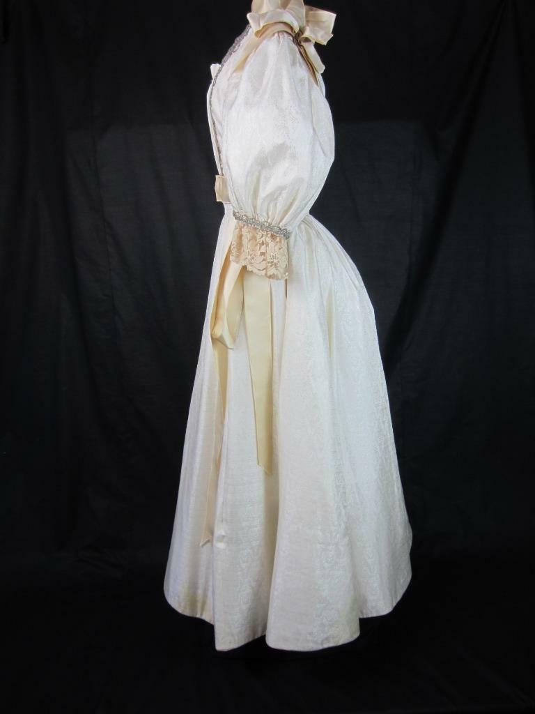 1895 Wedding Gown Victorian True Antique Dress - … - image 12