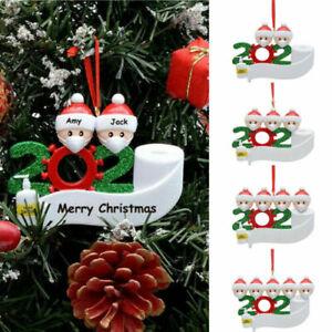 Quarantine Family 2020 Christmas Hanging Ornament Xmas Gifts Masks Toilet Paper | eBay