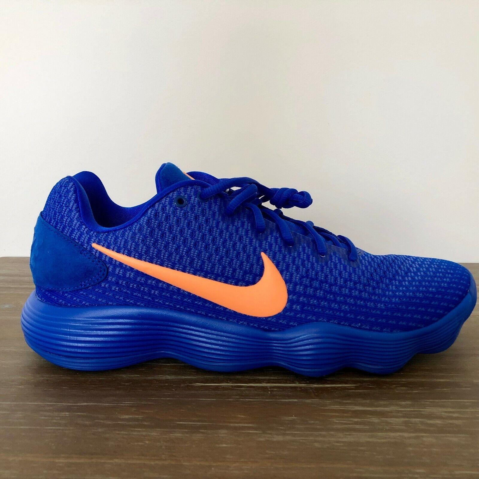 NEW MEN'S Nike Hyperdunk 2017 Low  Racer bluee  orange Pulse 897663-401 SIZE 8