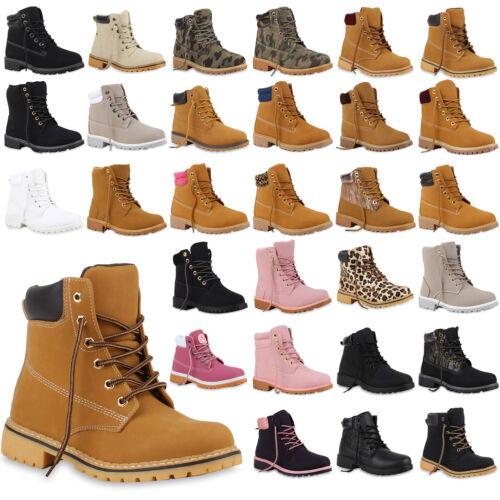 Worker Boots Damen Profil Sohle Outdoor Stiefeletten Zipper 891253 Trendy