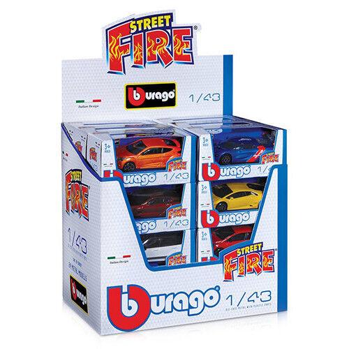BURAGO Street Fire Assorted Diecast Street Fire Series Cars Scale 1//43