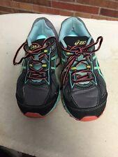 Asics Gel-Scram 2 Women Size 7 Running Shoes Charcoal/Green/Coral T3G7Q 7731