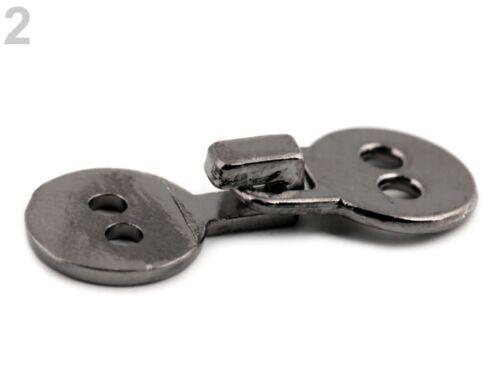 2 PZ metallo chiusura chiusura chiusura con gancio segno di spunta nero nuovo 0416