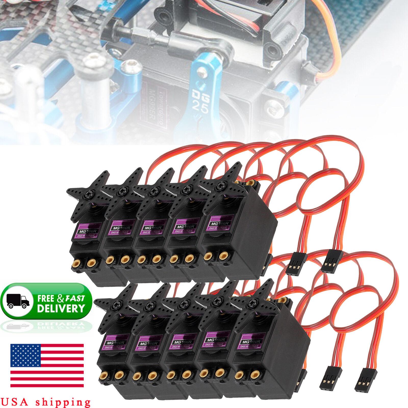 2   4   6   8   10pcs mg996r digital servo metal gear drehmoment - kit fr futaba jr - 2c - auto