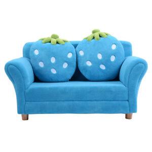 Costzon Kids Sofa Set Children Armrest Chair Lounge Couch 2 Cushions