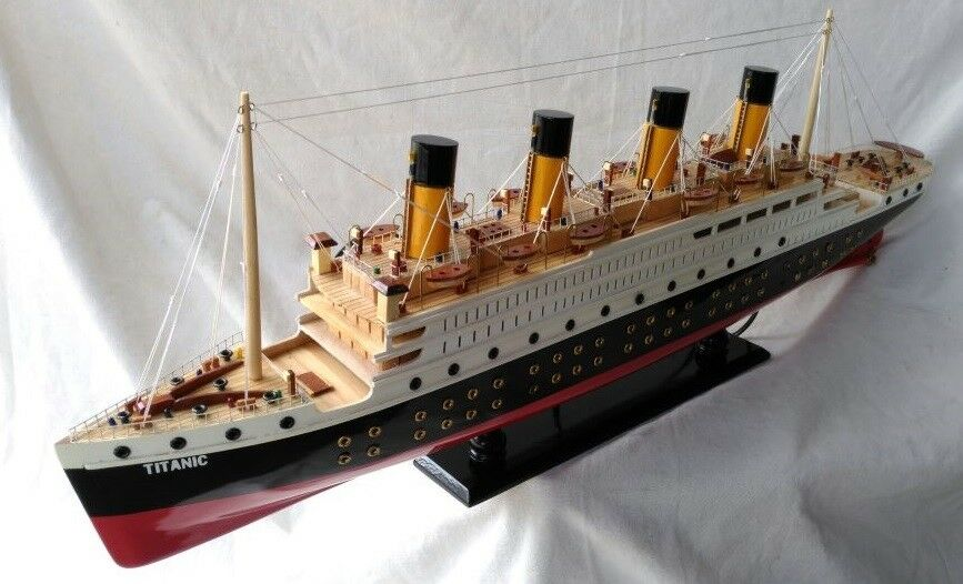 Titanic With Lights L80 Beautiful Wooden Model Cruise Ship