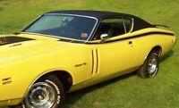 1971 Dodge Charger Super Bee Side Stripes & Cowl Hood Kit Mopar 71 gloss Black