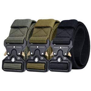 Men Sport Tactical Duty Belt Nylon Military QuickRelease Metal Buckle Style Belt