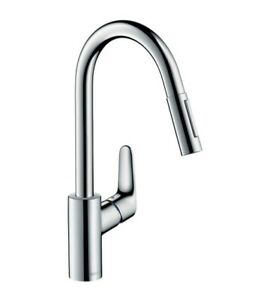 Hansgrohe 31815000 Focus Single Lever Kitchen Sink Mixer Tap With Pull Out Spray Ebay