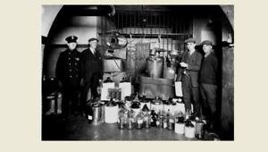 Details about 1930s Prohibition Liquor Still Stash PHOTO Bootleggers  Bottles,Jars, Jail Police
