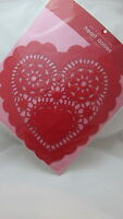 Valentine's 12 Paper Heart Doilies / Doily Red - 10 Inches