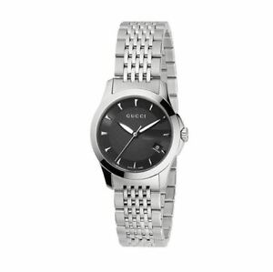 36d2dfc60c3 New Gucci G-Timeless Black Dial Stainless Steel YA126502 Ladies ...