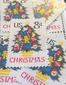 10 Vintage Christmas Stamps...Chris