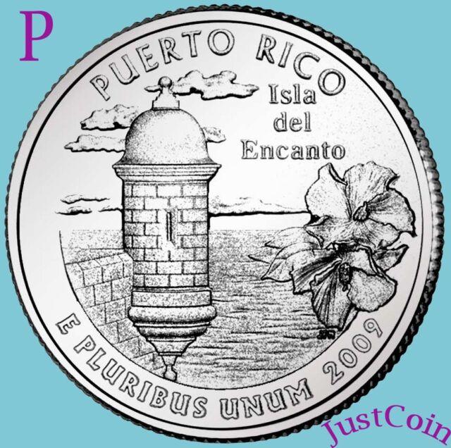 2009-P PUERTO RICO QUARTER U.S. TERRITORIES UNCIRCULATED FROM U.S. MINT