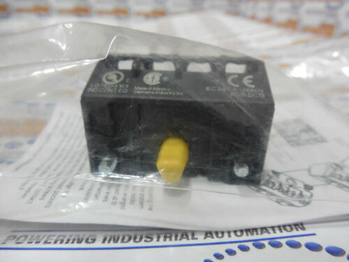 Siemens 52BAE Touch Safe Contact Block, YELLOW, 1 NC