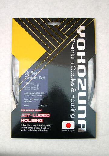 Yokozuna Shimano MTB PTFE compatible Brake /& Shift cables /& housing Kits BLACK
