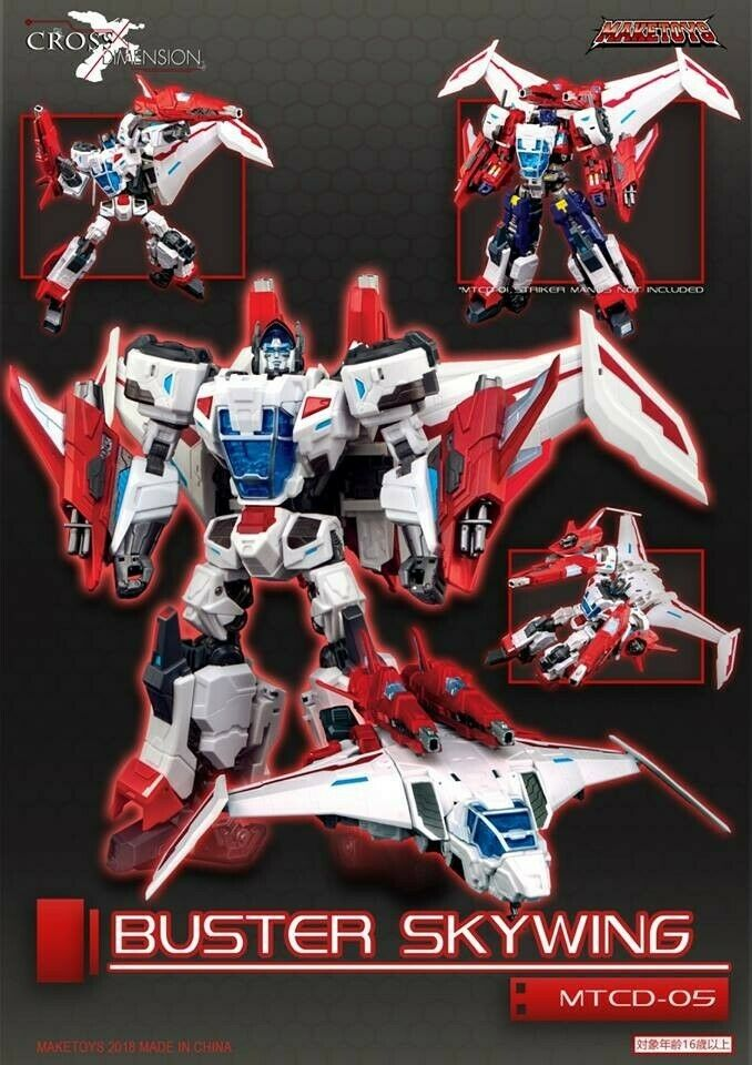 Maketoys Cross Dimension mtcd 05 Buster Skywing New