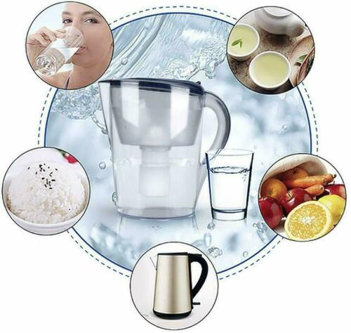 Water Filter Pitcher Filtration System,15-Cup Jug 3-Stage Cartridge 100/%BPA-Free