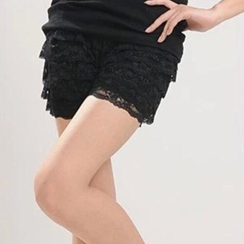 Damen Spitze Shorts Sicherheit Bodenbildung unter Hosen kürze Leggins Hotpants
