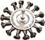 Drahtbürste Stahlbürste Zopfbürste Scheibenbürste gezopft 75mm 6mm Dorn