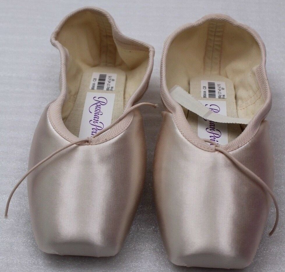 Russian Pointe Ballet Lace shoes Muse Drawstrings Gr.37, 5 w4 I27 Pink New
