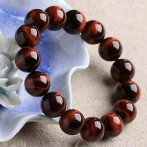 6mm-Men-039-s-Natural-AAA-Red-Tiger-Eye-Stone-Round-Beads-Stretchy-Bracelet-Jewelry
