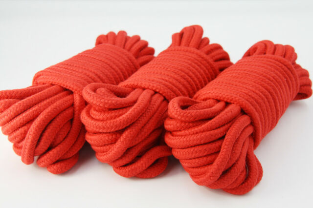 UK Seller 5 Meters 10 Meters Soft Cotton Bondage Rope 50 Shades Fantasy 4 Colors