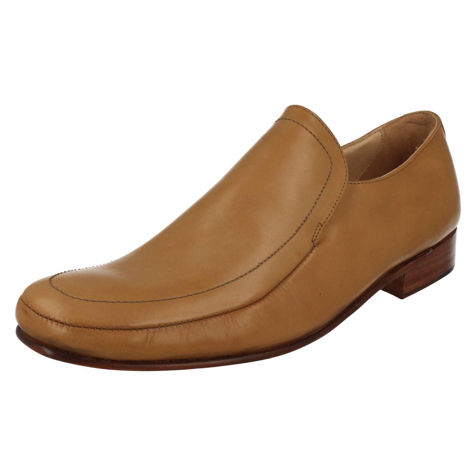 Herren Leder Slipper Grenson Schuhe in hellbraun Style dakota