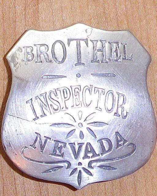 BROTHEL INSPECTOR NEVADA BADGE BW83  WESTERN SHERIFF MARSHAL POLICE