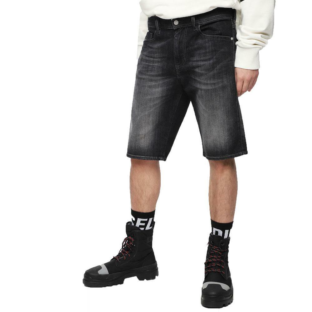 Diesel Thoshort 087AM Dark Grey Denim Washed Shorts
