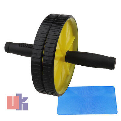 Abdominal Abs Exerciser Roller Wheel Gym Arms Wrist Tone Fitness Workout